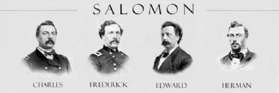 Salomon Brothers in the Civil War Marker Photo, Click for full size