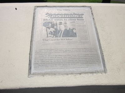 McClellan Air Force Base Marker - Panel 7b - The 1990's Photo, Click for full size