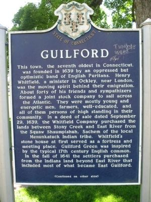 Guilford Marker image. Click for full size.