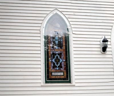 Liberty-Salem-Woodstock-Philomath Church Window image. Click for full size.