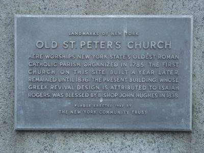 Old St. Peter�s Church Marker image. Click for full size.