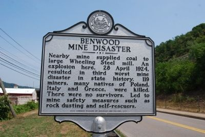 Benwood Mine Disaster Marker image. Click for full size.