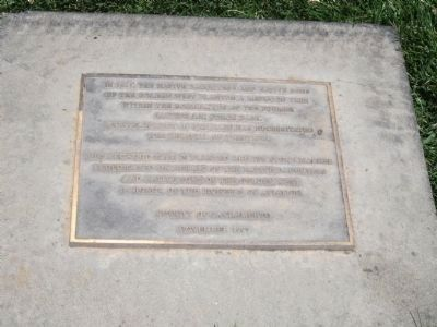 Lower Plaque at the NSGW/NDGW Monument image. Click for full size.