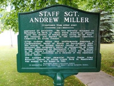 Staff Sgt. Andrew Miller Marker (side 2) Photo, Click for full size