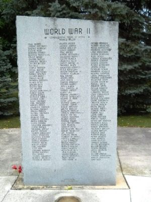 Manitowoc County Veterans Memorial Park Marker Photo, Click for full size