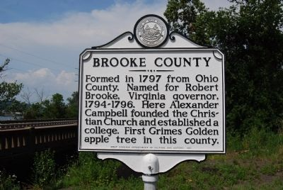 Brooke County Marker image. Click for full size.