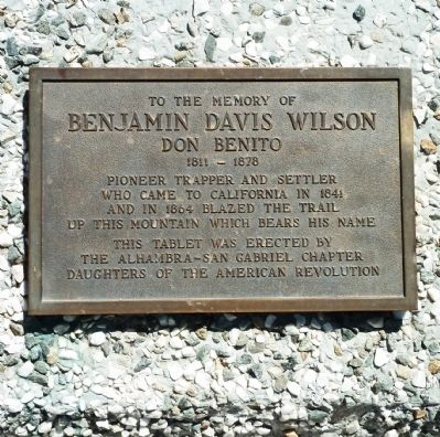 Benjamin Davis Wilson Marker Photo, Click for full size