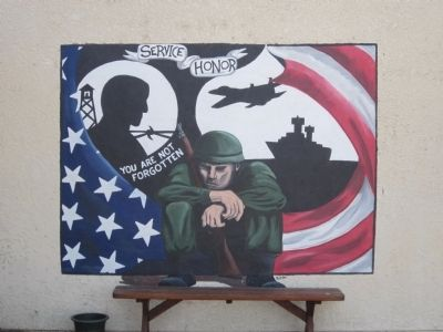 Mural on the Wall of the VFW Hall image. Click for full size.