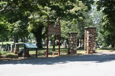 Warrenton Cemetery Marker at Entrance image. Click for full size.