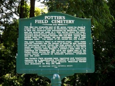 Potter's Field Cemetery Marker Photo, Click for full size