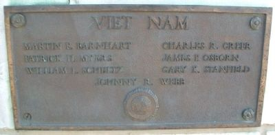 War Memorial Vietnam Marker image. Click for full size.
