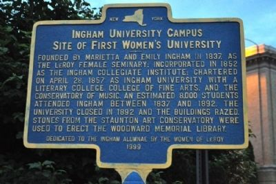 Ingham University Campus Marker Photo, Click for full size