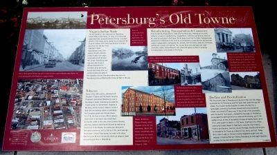 Petersburg�s Old Towne Marker image. Click for full size.