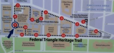 Federal Triangle Heritage Trail map Photo, Click for full size