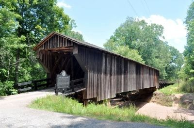 Red Oak Creek Covered Bridge Marker Photo, Click for full size