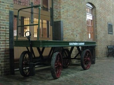 Southern Railway Baggage Cart Photo, Click for full size