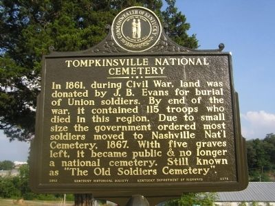 Tompkinsville National Cemetery Marker image. Click for full size.