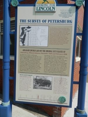 The Survey of Petersburg Marker image. Click for full size.