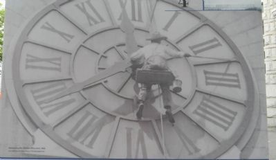 Maintaining the Old Post Office Clock image. Click for full size.