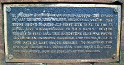 El Dorado Spring Marker Photo, Click for full size