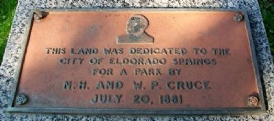 City Park Dedication Marker Photo, Click for full size