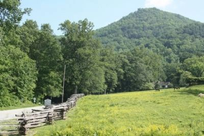 Sherrill's Inn Marker, Hickory Nut Gap Photo, Click for full size