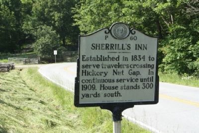 Sherrill's Inn Marker, looking back west image. Click for full size.