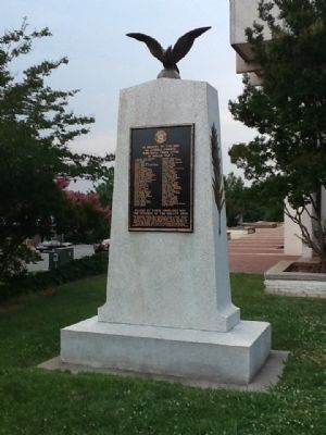 Iredell County World War I Memorial Marker Photo, Click for full size