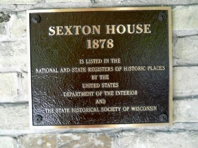 Sexton House Marker Photo, Click for full size