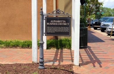 Alpharetta Business District Marker image. Click for full size.