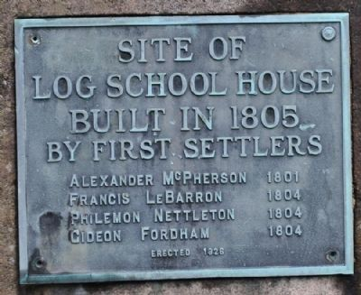 Site of Log School House Marker Photo, Click for full size