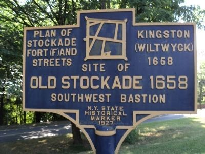 Old Stockade � 1658 Marker Photo, Click for full size