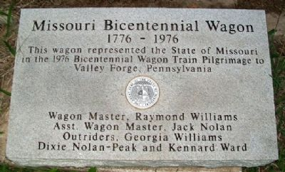 Missouri Bicentennial Wagon Marker image. Click for full size.