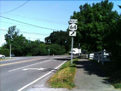 District #1 Marker as seen facing North on Mendon Rd. image. Click for full size.