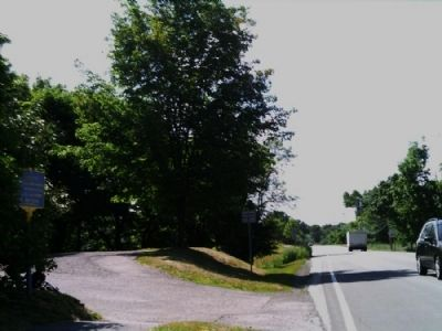 District #1 Marker as seen facing South on Mendon Rd. image. Click for full size.