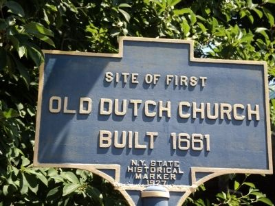Old Dutch Church Marker image. Click for full size.