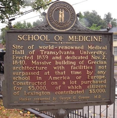 School Of Medicine Marker (obverse) image. Click for full size.