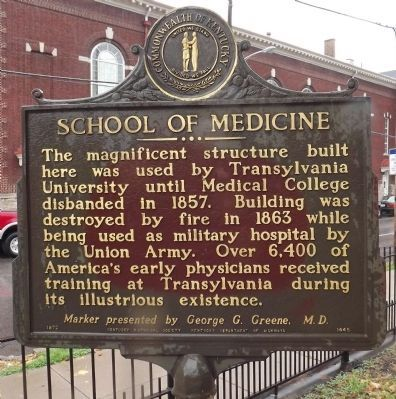 School Of Medicine Marker (reverse) image. Click for full size.