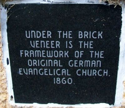 German Evangelical Church, 1860 Marker image. Click for full size.