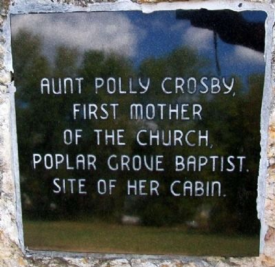 Aunt Polly Crosby's Cabin Site Marker image. Click for full size.