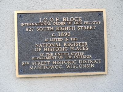 I.O.O.F. Block Marker image. Click for full size.