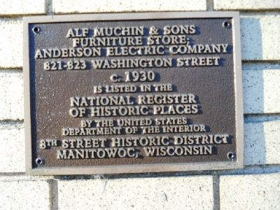 Alf Muchin & Sons Furniture Store; Anderson Electric Company Marker image. Click for full size.