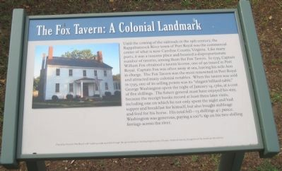 The Fox Tavern: A Colonial Landmark Marker image. Click for full size.