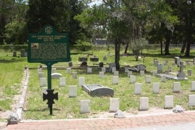 Old Confederate Soldiers and Sailors Home Marker and plot image. Click for full size.