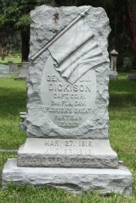 J.J. Dickison Gravestone, Evergreen Cemetery, Jacksonville, Florida Photo, Click for full size