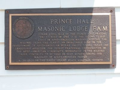Prince Hall Masonic Lodge F.A.M. Marker image. Click for full size.