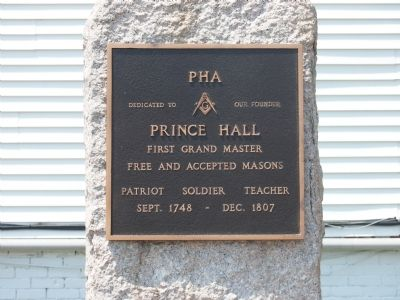 Prince Hall Marker Photo, Click for full size