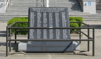 Yolo County War Memorial Marker image. Click for full size.