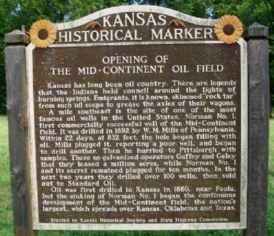 Opening of the Mid-Continent Oil Field Marker image. Click for full size.