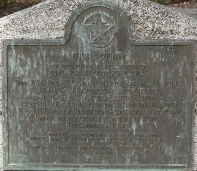 Duval County Marker Photo, Click for full size